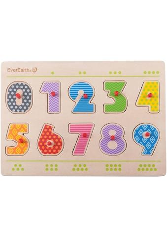 EverEarth® Steckpuzzle »Nummern Puzzle«, (11 tlg.), FSC®-Holz aus gewissenhaft... kaufen
