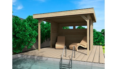 WOLFF FINNHAUS Set: Holzpavillon »Elba«, BxT: 350x352 cm, inkl. Wände kaufen