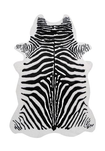 me gusta Fellteppich »Desert 100«, fellförmig, 19 mm Höhe, Kunstfell, Zebra Design,... kaufen