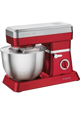 BOMANN Küchenmaschine »KM 398 CB ROT«, 1200 W, 6,3 l Schüssel kaufen