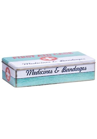 Zeller Present Aufbewahrungsbox »First Aid Case«, L/B/H: 32 x15,5 x 8 cm, im Vintage-Look kaufen