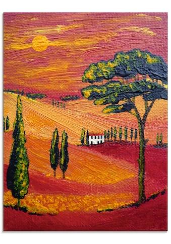 Artland Glasbild »Irgendwo in der Toskana/Toscana« kaufen