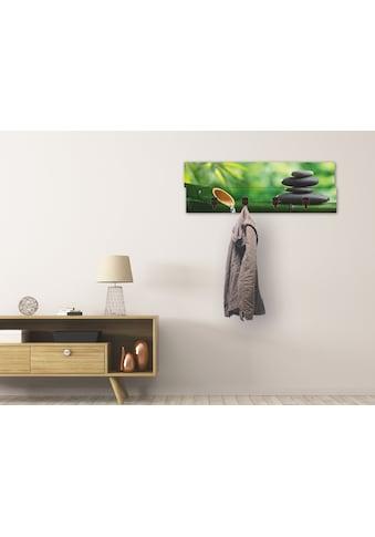 Artland Garderobenpaneel »Bambusbrunnen und Zen - Stein« kaufen