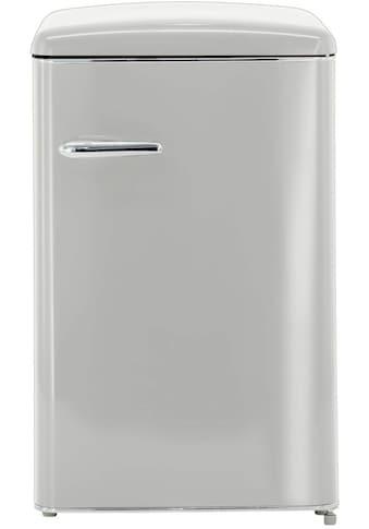 exquisit Vollraumkühlschrank »RKS 120-16 RV A++«, RKS 120-16 RV A++ GRAU, 87,5 cm hoch, 55 cm breit, Retro kaufen