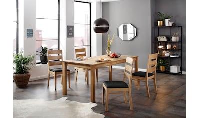 Home affaire Essgruppe »Soeren 4« (Set, 5 - tlg Tisch 180/90 cm, 6 Stühlen, Polstersitz) kaufen