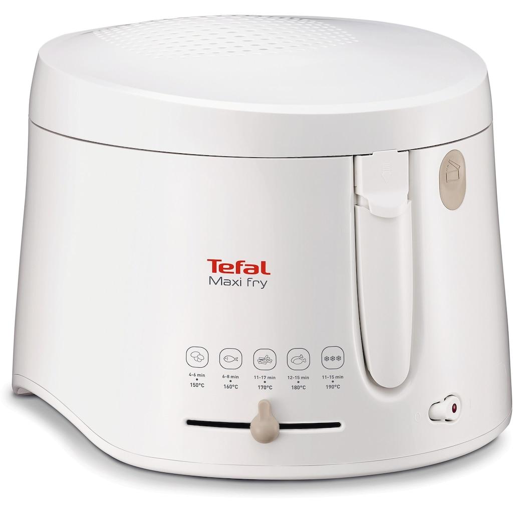 Tefal Fritteuse »Maxifry FF1000«, 1900 W, Fassungsvermögen für 1,2 kg, abnehmbarer, spülmaschinengeeigneter Deckel