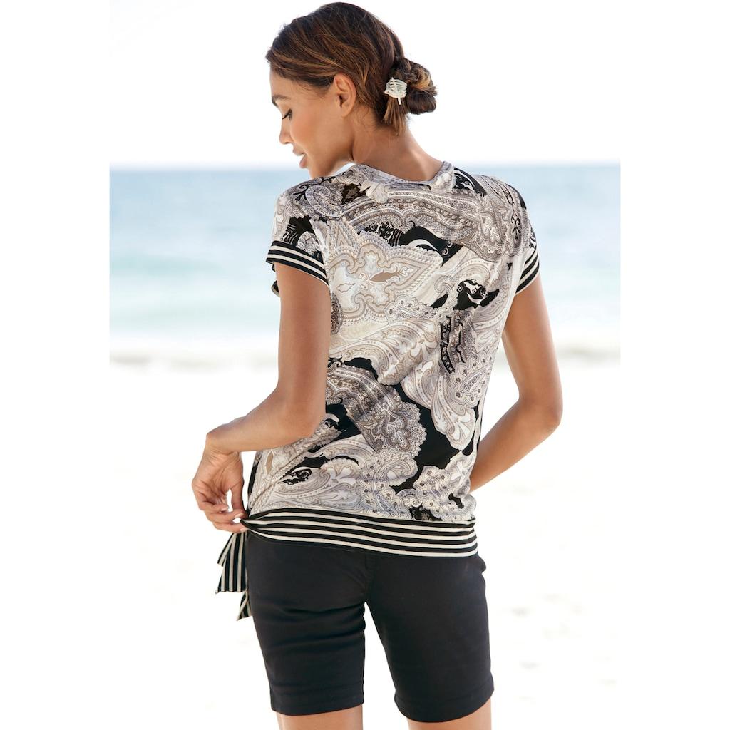 LASCANA Kurzarmshirt, mit Paisleyprint