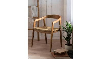 SIT Esszimmerstuhl, mit Rattan Sitzfläche, Armlehnstuhl in geschwungener Form kaufen