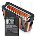 Arendo Automatik 2 Scheiben Langschlitz Toaster im Kupfer Design »Frukost Copper«