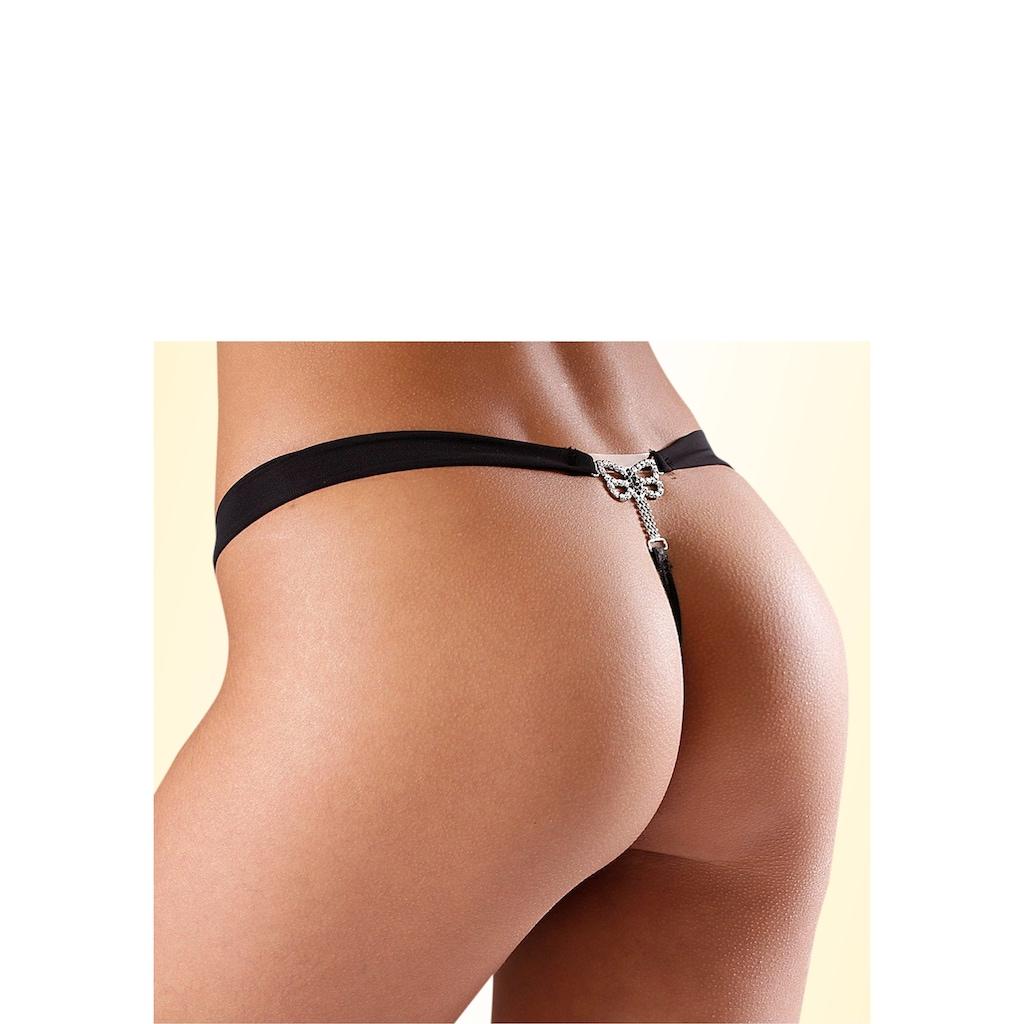 Nuance String, mit Schmuckdetail hinten