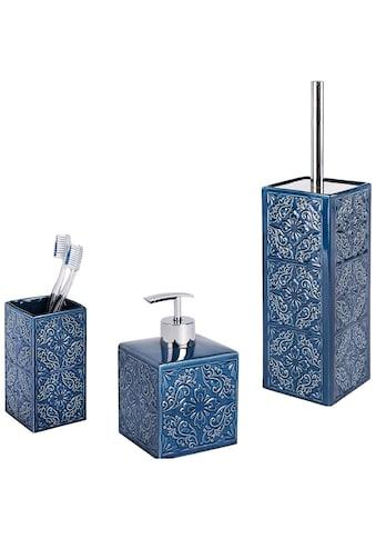 WENKO Set: Badaccessoires - Sets »Cordoba«, 3 - teilig, Zahnputzbecher, Seifenspender & WC - Garnitur kaufen