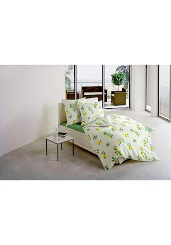 BIERBAUM Bettwäsche »Zitrone«, mit leuchtenden Zitronen kaufen