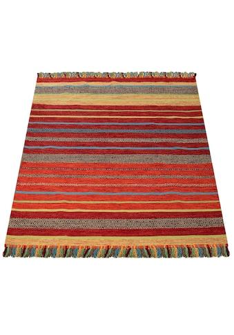 Paco Home Teppich »Kilim 213«, rechteckig, 8 mm Höhe, hangefertigter Web-Teppich mit... kaufen