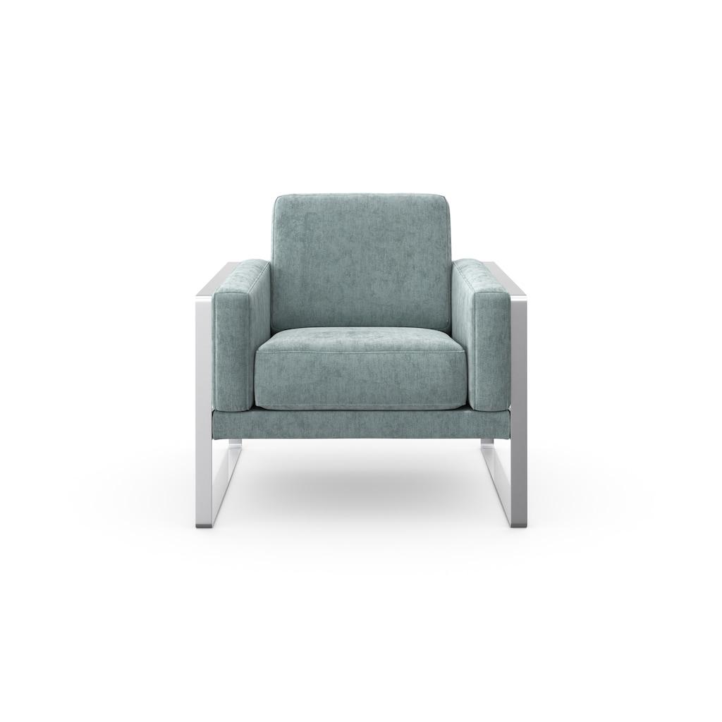 machalke® Loungesessel »frame«, mit Kufe silberfarben