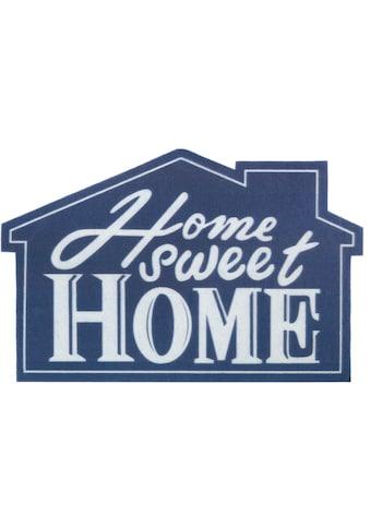my home Fußmatte »Home sweet Home Haus«, Motivform, 6 mm Höhe, Türmatte,... kaufen