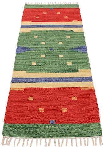 Läufer, »Kelim Amar«, carpetfine, rechteckig, Höhe 5 mm, handgewebt kaufen