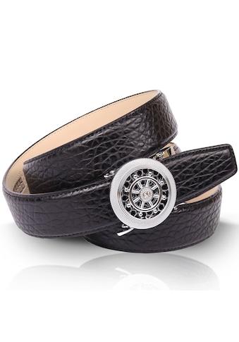 Anthoni Crown Ledergürtel, mit filigraner runder Gürtelschnalle kaufen