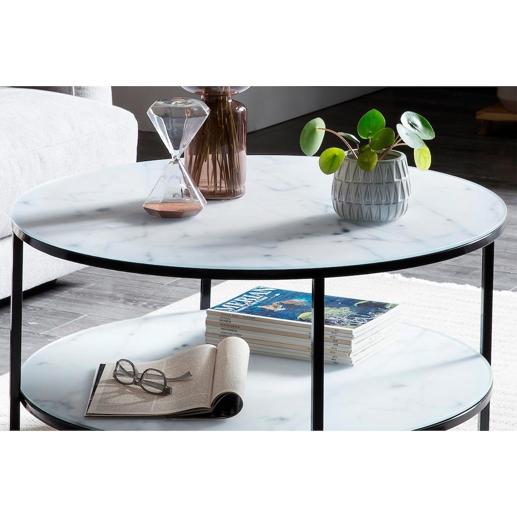 SalesFever Couchtisch, Tischplatten in Marmoroptik