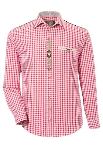 OS-Trachten Trachtenhemd, mit Krämpelärmeln und Stickerei kaufen