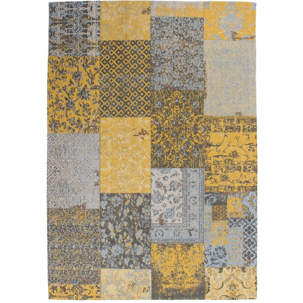 DELAVITA Teppich »Ella«, rechteckig, 10 mm Höhe, Vintage Design, Wohnzimmer