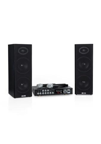 Auna 4 Karaoke-Set, 2 x 80 W max., BT, USB-Port, 2 kaufen