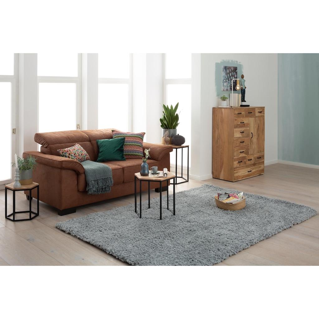 Home affaire Hochflor-Teppich »Florenz«, rechteckig, 45 mm Höhe, Besonders weich durch Microfaser
