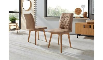 Premium collection by Home affaire 4-Fußstuhl »Brest«, Gestell aus Eiche Massivholz geölt kaufen
