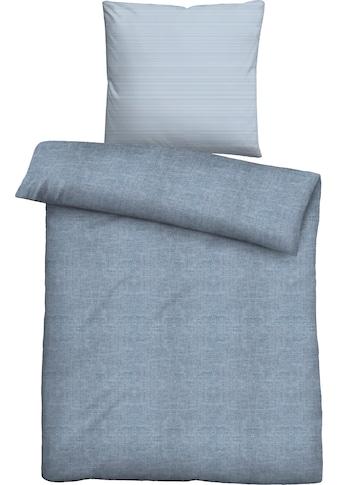 Biberna Bettwäsche »Liora«, mit unterschiedlichem Kissen und Bettbezug kaufen