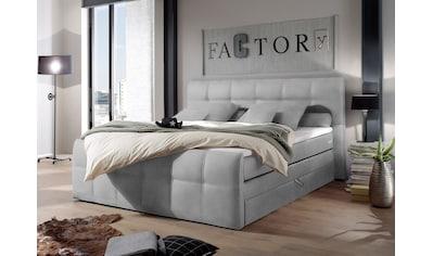 Boxspringbett »Sacramento«, inkl. zwei Bettkästen und Topper kaufen