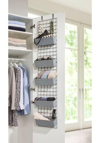 Ruco Hängeregal, Kunststoff, ideal für Socken, Tücher, Accessoires, einfach an der Kleiderschranktür einhängen kaufen