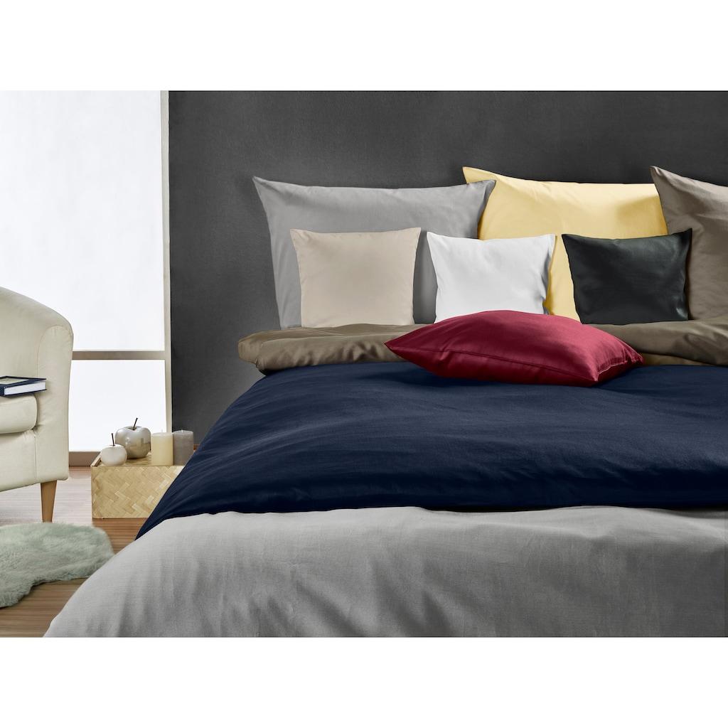 Kneer Bettwäsche »Edel-Satin Uni«, aus mercerisierter Baumwolle