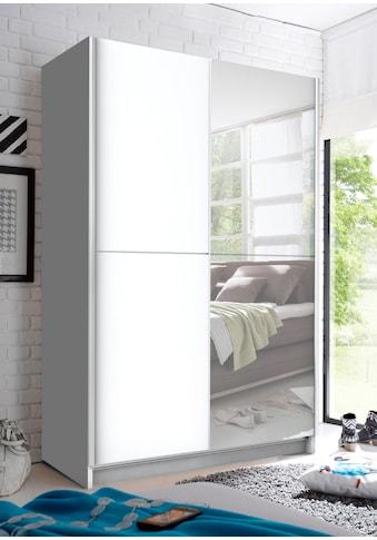 Schwebetürenschrank, mit Spiegel, Teleskopkleiderstange und zusätzlichen Böden kaufen