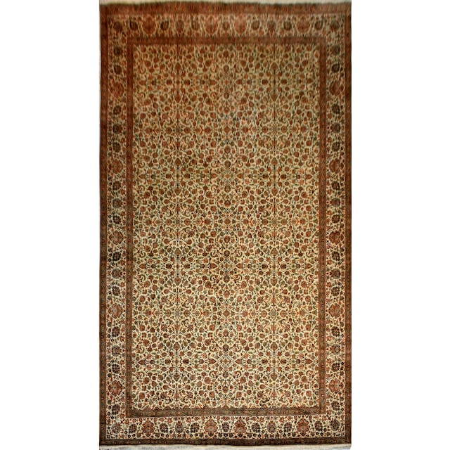 Seidenteppich, »Allover 999x5«, Kayoom, rechteckig, Höhe 10 mm, manuell geknüpft
