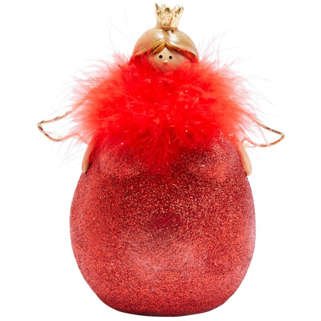 LED Dekofigur »Molly Rouge«, Warmweiß, mit roter Feder-Boa