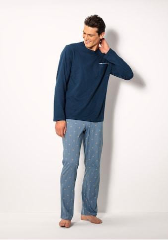 Schiesser Pyjama, bedruckte Hose kaufen