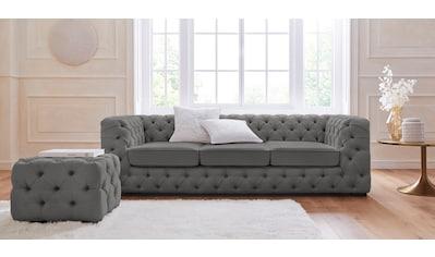 Guido Maria Kretschmer Home&Living 3-Sitzer »Kalina«, mit klassischer Chesterfield-Knopfheftung kaufen