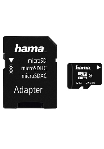 Hama Speicherkarte, (Class 10), microSDHC 32 GB Class 10, 22MB/s + Adapter/Mobile kaufen