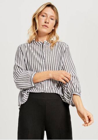 OPUS Klassische Bluse »Fiefer«, im frischen Streifen Design kaufen