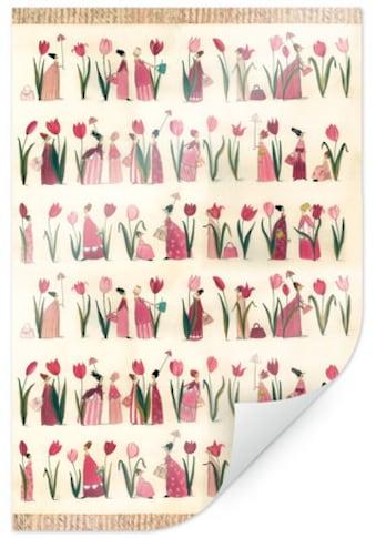 Wall-Art Poster »Esszimmer Rote Tulpen Küche«, Blumen, (1 St.), Poster, Wandbild,... kaufen