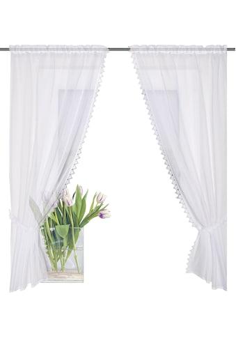 HOME WOHNIDEEN Scheibengardine »LEONA«, HxB: 125x75 kaufen
