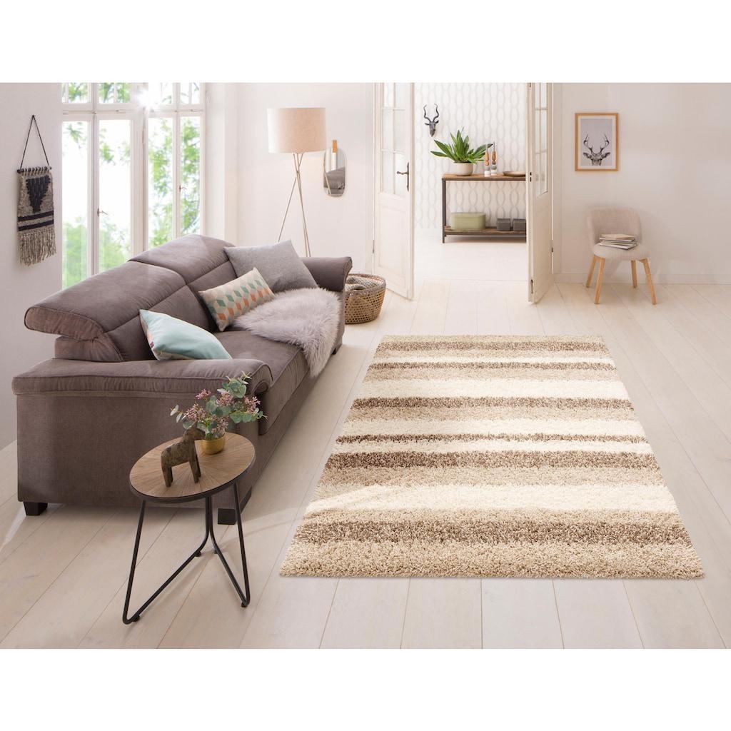 Home affaire Hochflor-Teppich »Riga«, rechteckig, 45 mm Höhe, dichter Flor