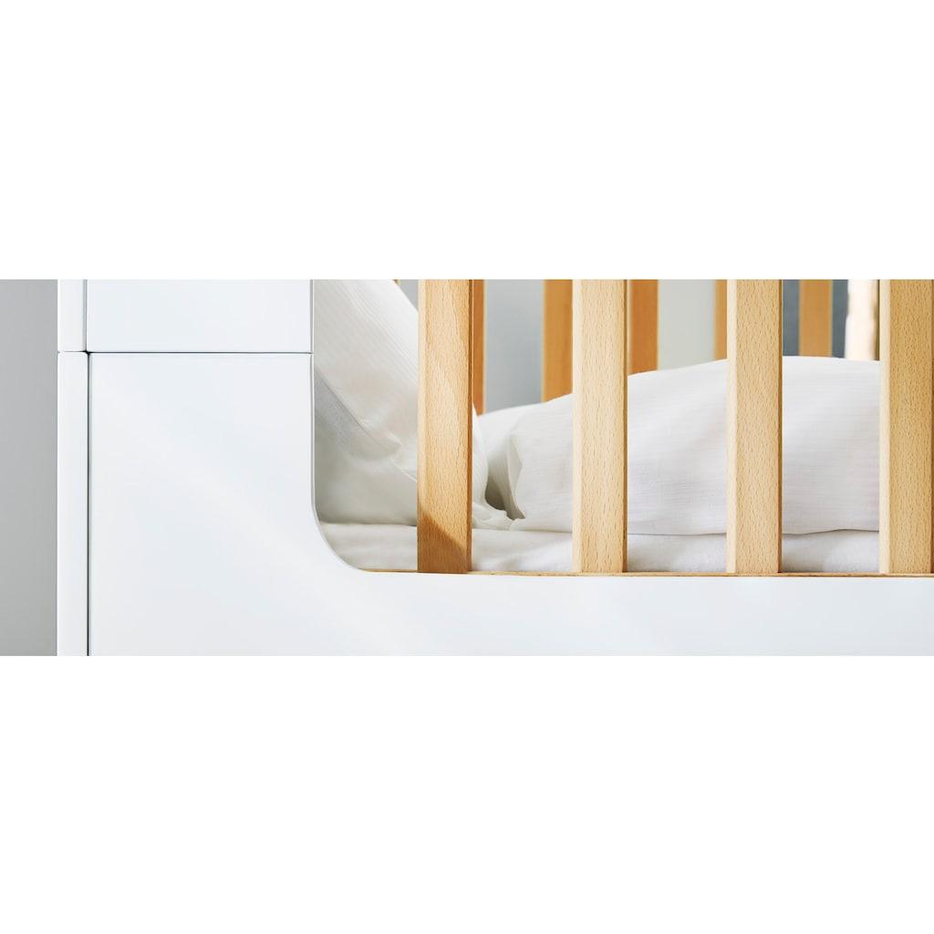 Pinolino® Babyzimmer-Komplettset »Boks«, (Set, 3 St.), extrabreit groß; mit Kinderbett, Schrank und Wickelkommode; Made in Europe