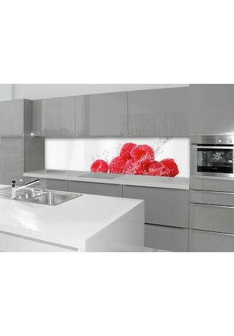 Küchenrückwand  -  Spritzschutz »profix«, Aqua - Himbeere, 220x60 cm kaufen
