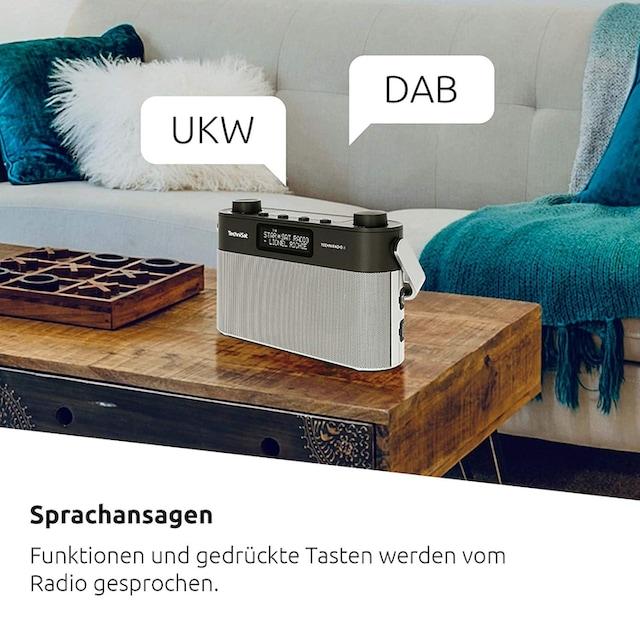 TechniSat Portables Digitalradio mit Tragegriff (DAB+, UKW, Sprachansagen) »Techniradio 8«
