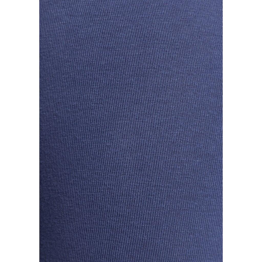KangaROOS Leggings, mit breitem Rippenbund & Kontraststreifen