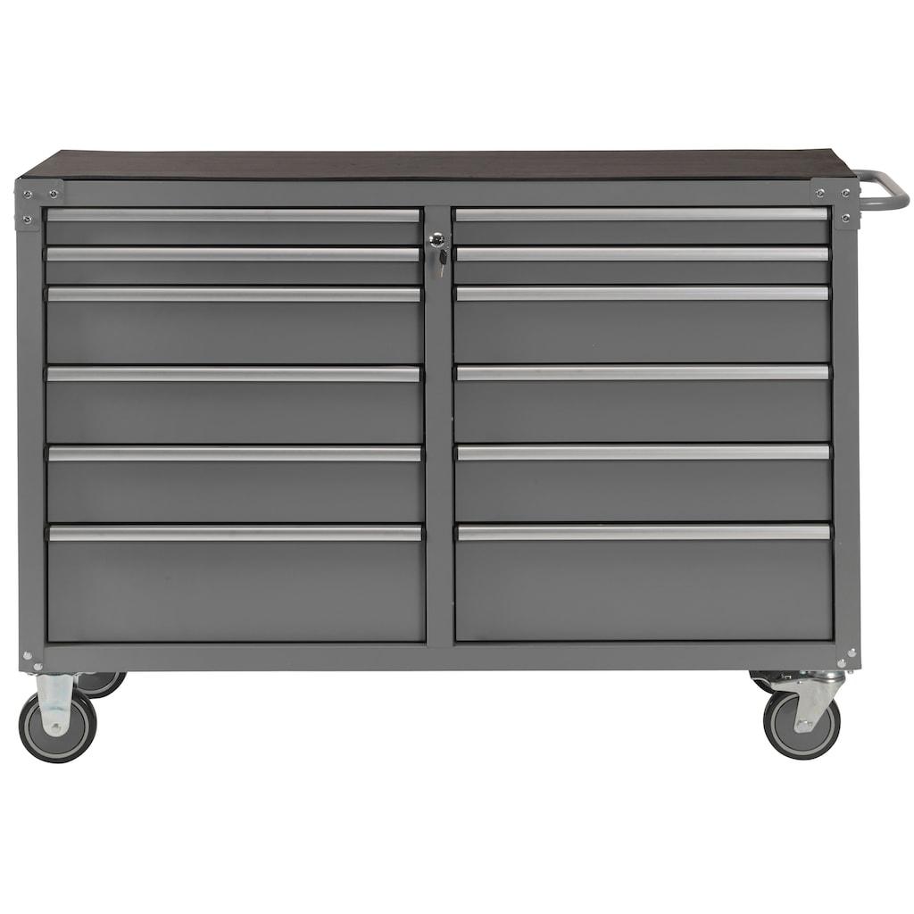 Profiwerk Werkstattwagen »Miami III«, 12 Schubladen, abschließbar, zur Selbstmontage