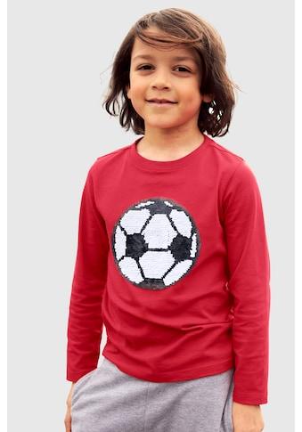KIDSWORLD Langarmshirt »mit Wendepailletten« kaufen