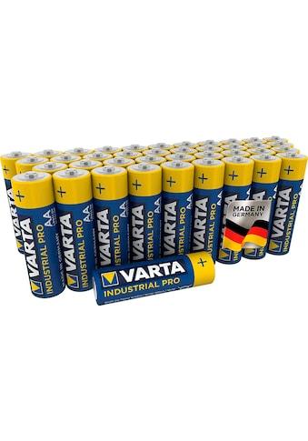 VARTA »Varta Industrial Pro Batterie AA Mignon Alkaline Batterien LR6 umweltschonende Verpackung 40er Batterien Pack Made in Germany« Batterie kaufen