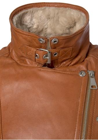 Freaky Nation Lederjacke »Polar Day-FN«, mit passenden Bindegürtel in der Taille für... kaufen
