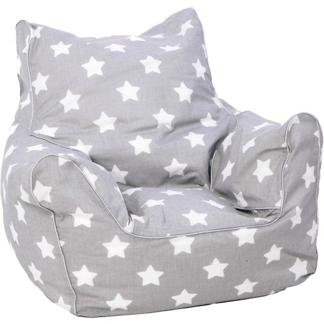 Knorrtoys® Sitzsack »Grey White Stars«